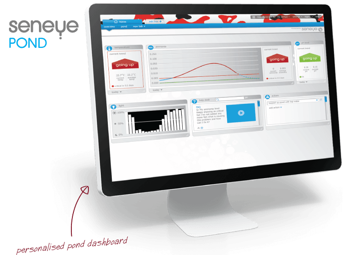 seneye pond dashboard